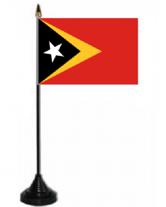 East Timor Desk / Table Flag with plastic stand and base.